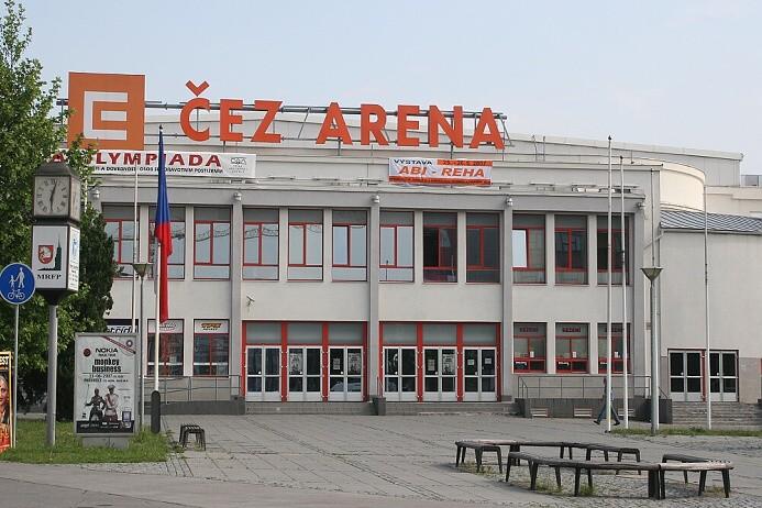 Celkový pohled na ČEZ Arenu Pardubice