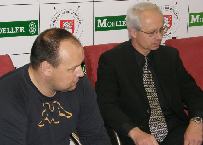 Noví spolupracovníci: Ladislav Lubina (vlevo) a Václav Sýkora (vpravo).